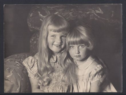 Archduchess Maria & Archduchess Alexandra Habsburg of Austria Antique Photo 1938